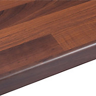 38mm Butcher's block Walnut effect Round edge Laminate Breakfast bar (L)2m (D)900mm
