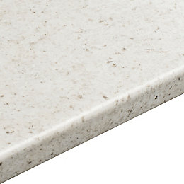 38mm Cashmere White Round edge Laminate Breakfast bar