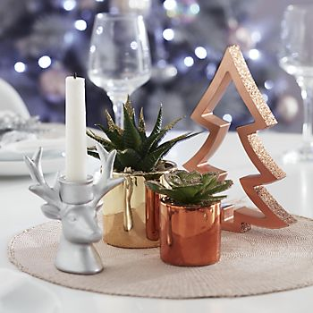 Copper Star Tea Light Holder
