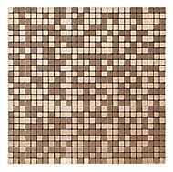 Abu dhabi Brushed bronze effect Metal Mosaic tile sheets, (L)290mm (W)290mm