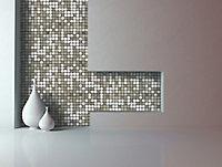 Abu dhabi Brushed metal Metal Mosaic tile, (L)300mm (W)300mm