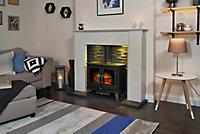 Adam Montara White, grey & black Electric Stove suite