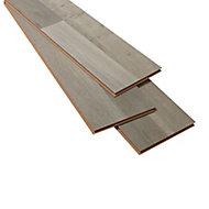 Addington Grey Oak effect High-density fibreboard (HDF) Laminate Flooring Sample