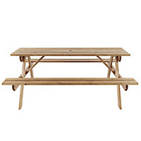 Agad Wooden Brown Picnic bench