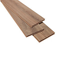 Albury Natural Oak effect High-density fibreboard (HDF) Laminate Flooring Sample