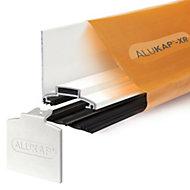 Alukap XR White Aluminium Glazing bar, (L)3m (W)60mm (T)70mm