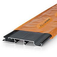 Alupave Grey Flat roof & decking board (L)2m (W)220mm (T)25mm