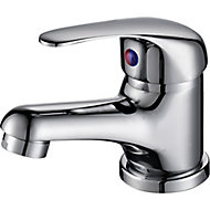 Arborg 1 lever Chrome effect Contemporary Basin Mixer Tap