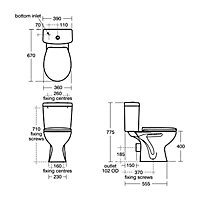 Armitage Shanks Sandringham 21 Close-coupled Toilet with Standard close seat
