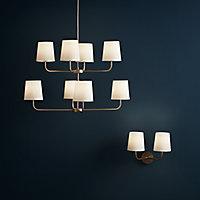 Arrioph Gold effect Double Wall light
