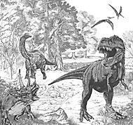 Art for the Home Black & white Sketched dinosaur Matt Mural