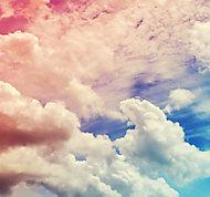 Art for the Home Multicolour Ombre cloud Matt Mural