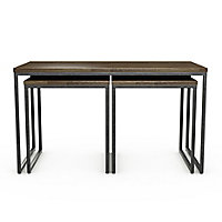 Atico Dark stained wood effect Coffee table & side table (H)45cm (W)50cm