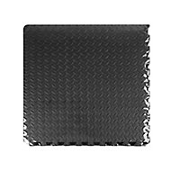 Auto Pro Black Interlocking floor tile 2.16m², Pack of 6