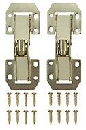 B&Q Brass effect Metal Sprung Door hinge (L)106mm N350, Pack of 2