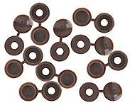 B&Q Brown Screw cap (Dia)12mm, Pack of 10