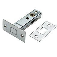 B&Q Chrome effect Metal Door bolt