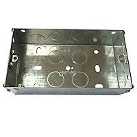 B&Q Metal 35mm Double Pattress box