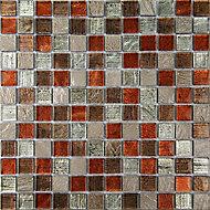 Bangkok Multicolour Stone effect Mosaic tile, (L)300mm (W)300mm