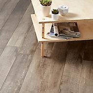 Bannerton Dark Gloss Mahogany effect High-density fibreboard (HDF) Laminate Flooring Sample