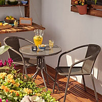 Bari Metal 2 seater Bistro set