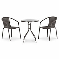 Bari Metal 2 seater Table & chair set