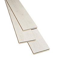 Barkly White Gloss Oak effect Laminate Flooring Sample