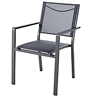 Batz Black ebony Metal Armchair