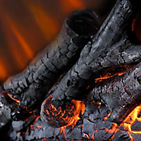 Be Modern Alder White & black Nickel effect Electric Fire suite