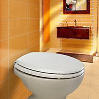 Bemis Denver White Sta-tite bottom fix Toilet seat