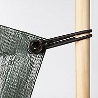 Black Tarpaulin tie (L)200mm, Pack of 8