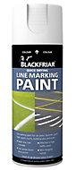 Blackfriar White Matt Multi-surface Line-marking Spray paint, 400ml