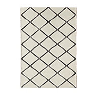 Blooma Birch & moonless night Twill Outdoor rug (L)2.3m (W)1.6 m