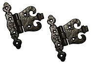 Blooma Black Antique effect Malleable iron Gate hinge (L)60mm, Pack of 2