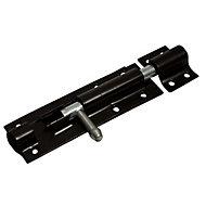 Blooma Black Steel Barrel Door bolt (L)102mm