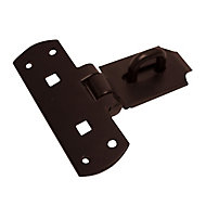 Blooma Black Steel Hasp & staple, (L)152mm (W)152mm