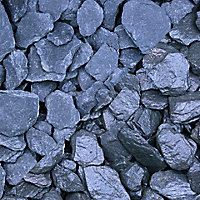 Blooma Blue Slate Decorative chippings, Large 22.5kg Bag