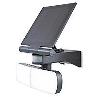 Blooma Brampton Matt Charcoal grey Solar-powered LED Motion sensor Outdoor Security light
