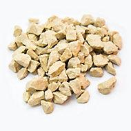 Blooma Cream Decorative stones, 17kg Bag