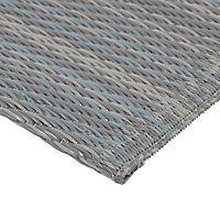 Blooma Grey Twill Outdoor rug (L)2.3m (W)1.6 m
