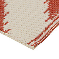 Blooma Mango & whisper white Twill Outdoor rug (L)2.3m (W)1.6 m