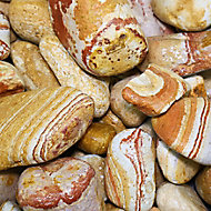 Blooma Multicolour 30-50mm Stone Pebbles, 22.5kg Bag