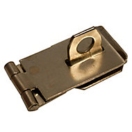 Blooma Steel Hasp & staple, (L)64mm (W)39.5mm