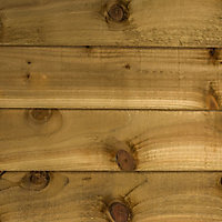 Blooma Timber Feather edge Fence board (L)2.4m (W)125mm (T)11mm, Pack of 8