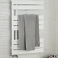 Blyss Boxwood 379W White Towel warmer (H)900mm (W)500mm