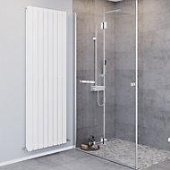 Blyss Faringdon Vertical Designer Radiator, White (W)608mm (H)1800mm