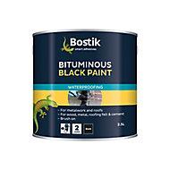 Bostik Black Waterproofer, 2.5L Metal container