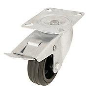 Braked Heavy duty Swivel Castor WC50, (Dia)80mm (H)107mm (Max. Weight)70kg