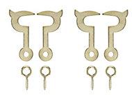 Brass-plated Cabin hook, (L)25mm
