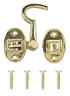 Brass-plated Cabin hook, (L)70mm